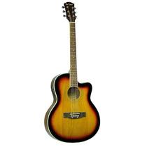 Guitarra Electroacústica De Rosa Ga 700 Ce/ Funda - Nueva!