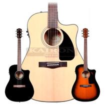 Guitarra Electroacustica Fender Cd60 Ce Con Estuche Rigido