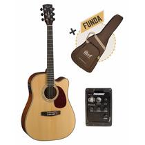 Guitarra Electroacústica Cort Mr710f Nat Con Eq + Funda!