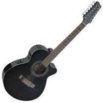 Guitarra Electroacustica Stagg Sa40mjcfi/12bk 12 Cuerdas