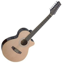Guitarra Electroacustica Stagg Sa40mjcfi/12-n 12 Cuerdas