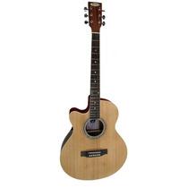 Guitarra Electroacústica Para Zurdos Midland Con Eq
