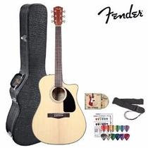 Guitarra Electro Acustica Fender Cd-60ce Con Estuche Fender.