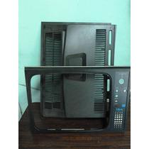 Lote De Frente Y Tapa Trasera De Antiguo Televisor