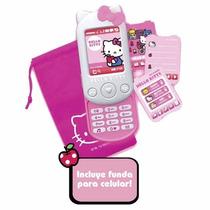 Educando Celular Con Sonidos Y Funda Tela Hello Kitty Hkcu7