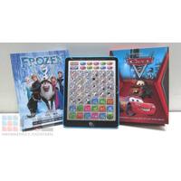 Tablet Infantíl Frozen Cars Bilingue Educat Pianito Volumen