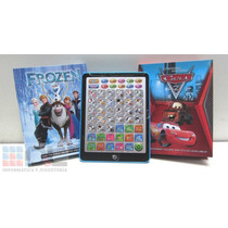 Tablet Infantíl Frozen Cars Bilingue Educat Pianito Volumen