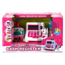 Caja Registradora Con Luz, Sonido, Calculadora, Canastita