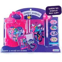 Equestria Diario Secreto Con Candado Birome Stickers Hasbro