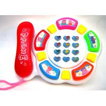 Telefono Peppa Pig Infantil Con Luces Y Sonidos