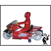 Moto Del Hombre Araña A Pilas C/luz, Movimiento Y Sonido