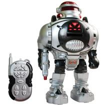 Robot A Control Remoto Lanza Discos De Goma Space Fighter