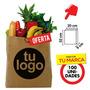 300 Bolsas Ecologicas #3 32x20x9 Iogo 2 Caras 1 Color