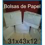 Bolsas Papel-cartulina No Impresas, Blanca-lisas (paq X10 )