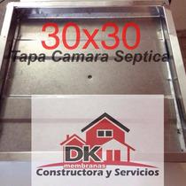 Tapa Camara Septica Inspeccion Cloacal Pluvial 30x30 Cm