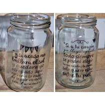 Frasco Vaso Personalizado! Frases, Imagen, Souvenir!!