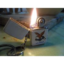 Encendedor Llavero A Bencina Antiguo Funcionando U.s. Eagle