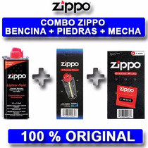 Combo Zippo Bencina Piedras Y Mecha Super Oferta Local Centr