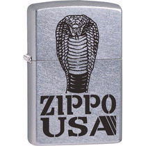 Encendedor Zippo 28776 Cobra Usa Satin Cromado