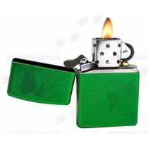 Encendedor Zippo 28340 Mundo Helado Verde Relieve