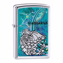 Encendedor Zippo 24929 Aquarius Zodiaco Acuario Pulido