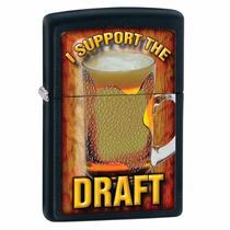 Encendedor Zippo 28294 Draft Cerveza Chopp Negro