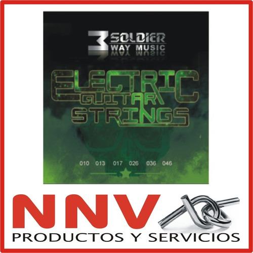 Encordado Guitarra Electrica Soldier 3 Way Music 010 + Pua