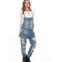 Jardinero De Jeans Con Roturas-
