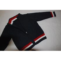 Sweter De Hilo Tipo Camperita Con Cierre