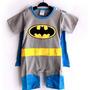 Disfraz Enterito De Batman Y Superman Para Bebe Algodon