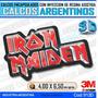 Calcomanias 3d Con Relieve, Resina Importada Iron Maiden