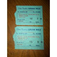 Entradas De Colección De Charly Garcia En El Rex Día 7-11-87