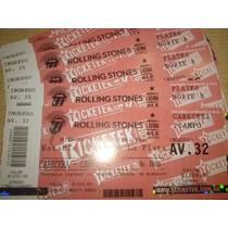 Entrada Para Los Rolling Stones, Mierc. 10/2 Campo Y Platea