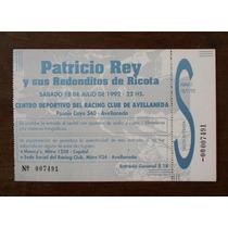 Entrada Historica De Los Redonditos Racing 18 Julio De 1992