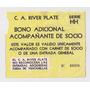 Antigua Entrada Futbol River Plate - Banfield Clausura 1994