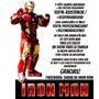 Iron Man Animacion, Con Tony Stark De La Tv A Tu Fiesta!