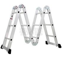 Escalera De Aluminio Articulada Plegable 3.70m