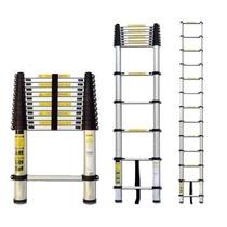 Escalera Telescopica Aluminio Extensible 3,8 Metros - 160kg