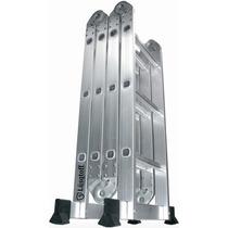 Escalera De Aluminio Articulada Plegable 3.7mts Multifuncion