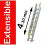 Escalera Extensible De Aluminio 4.30 Mts Uso Profesional