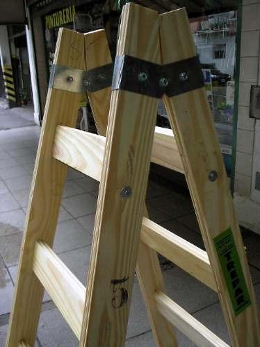 Escaleras de madera para pintor barandales de madera for Escalera pintor