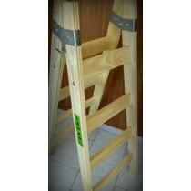 Escalera Tipo Pintor Profesional - 6 Escalones - Madera Pino