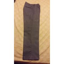 Pantalón Escolar De Sarga Gris - Precios De Fabrica 40/42