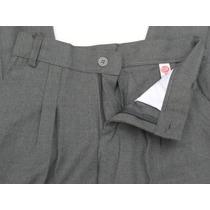 Pantalon Niño Colegial Gris Sarga Viscosa Talle 6 A 16