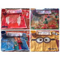 Set Infantil Personalizados,taza,servilleta,mantel Y Toalla.