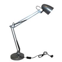 Lámpara Velador Doble Brazo Flexible Metal Alta Microcentro