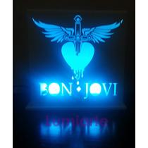 Luz De Noche Bon Jovi Gupos Musical Velador C Control Remot
