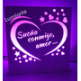 Regalo San Valentin Luz De Noche Enamorados Novia Lumiarte