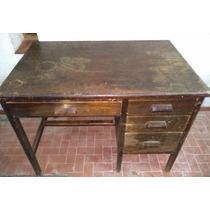 Escritorio Antiguo Tipo Ministeri-mueble No Roble Ni Vitrina