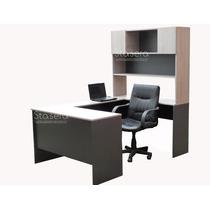 Escritorio Gerencial Mesa Pc - Alzada - Oficina - Estantes